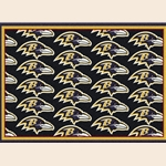 Baltimore Ravens NFL Team Repeat Rug