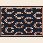 Chicago Bears NFL Team Repeat Rug