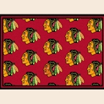 Chicago Blackhawks NHL Team Repeat Rug