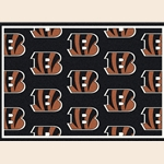 Cincinnati Bengals NFL Team Repeat Rug