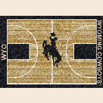 Wyoming College Home Court Rug